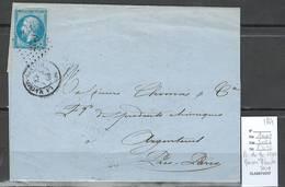France - Lettre  - PC Du GC 2170 - MAISON BLANCHE - Seine -1864 - Marcophilie (Lettres)