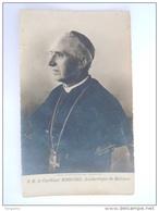 Devotieprentje Holycard Image Pieuse Le Cardinaal Mercier Archevêque De Malines Photo-Imp Braine-l'Alleud 1916 - Devotion Images