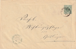 Wuerttemberg / 1894 / Dienst-Ganzsachenumschlag K1 LONSEE (BD59) - Wuerttemberg