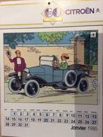 Hergé Calendrier Tintin 1985 (publicitaire Pour Citroën). - Agendas & Calendriers