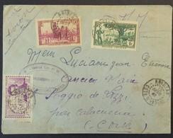 Env Franchise Militaire Cachet REGIMENT TIRAILLEURS SENEGALAIS DE LA COTE D'IVOIRE Vers Poggio De Lozzi CORSE Sept 1941 - Storia Postale