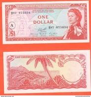 Antigua Caraibi East Caribbean ONE DOLLAR 1965 Brithis Administration P13 H A In Circle UNC - Caraibi Orientale