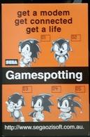Gamespotting Sega Saturn Game Carte Postale - Pubblicitari