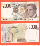 2000 Lire 1990 Marconi Guglielmo Nobel Serie AAA Qualità UNC - 2000 Lire