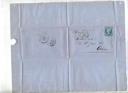 Lettre Cachet Losange La Ferte Sur Napoleon - Marcofilia (sobres)