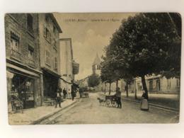 Cours La Grande Rue Et L'eglise   69 Rhone - Cours-la-Ville
