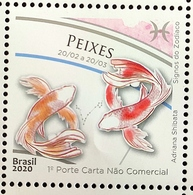 Brazil Stamp C 3882 Signos Do Zodíaco Peixes Astrologia 2020 - Brasilien