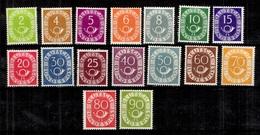 Allemagne/RFA Série Cor Postal/Posthorn YT N° 9/24 Neufs *. B/TB. A Saisir! - [7] République Fédérale