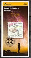 Brazil Stamp Edital 2020 02 Signos Do Zodíaco Aquário Sem Selo - Brasilien