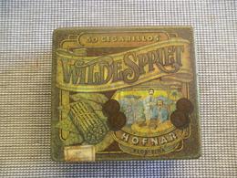 Oud Blikken Sigarendoos   WILDE  SPRIET  Valkenswaard  Holland - Scatola Di Sigari (vuote)