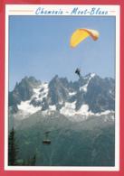 74-CHAMONIX- Mont-BLANC- Parapente -Téléphérique Du Brévent - Aiguilles De Chamonix *SUP* 2 Scans - Autres Communes