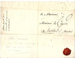 ANTIBES . LETTRE ADRESSEE AUX CONSULS . 1769 . POUR VERIFICATION DES POIDS ET MESURES - Historische Dokumente