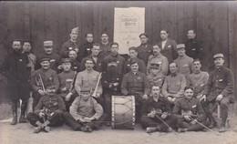 Militaria Guerre 1918 Carte Photo Prisonniers Camp De Mannheim Troupe Théâtrale Armand Gaité Orchestre Et Artistes - Guerra 1914-18