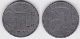 LOT 50   LEOPOLD III  1 FRANC ZINC  TYPE RAU  1941 Française/Flamande - 1934-1945: Leopold III
