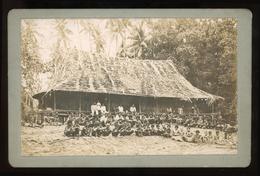 Original Photograph - Villages Outside Longhouse, OCEANIA - Alte (vor 1900)