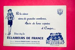 Buvard ÉCLAIREURS De FRANCE, Association De Scoutisme, Scouts - Buvards, Protège-cahiers Illustrés