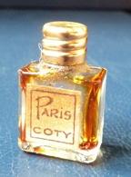 Miniature De Parfum  - Paris De Coty (Vide)  Réf, A 02 - Vintage Miniatures (until 1960)