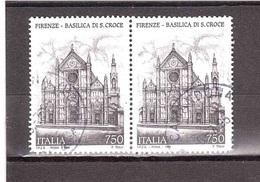 1995 £750 FIRENZE BASILICA S.CROCE COPPIA USATA - 1946-.. République