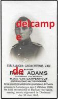 Oorlog Guerre Rene Adams Grimbergen Soldaat Gesneuveld Gefusilleerd Te Bochum Dortmund / D 1943 Van Campenhout - Images Religieuses