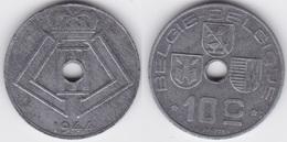 LOT 52  LEOPOLD III  10 CENTIMES ZINC TYPE JESPERS 1944 Flamande/Française - 02. 10 Centimes