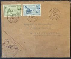 Env Franchise Militaire Cachet COLONNE DE LA MAURITANIE LE CHEF DU SERVICE DE SANTE > Hôpital Colonial SAINT-LOUIS 1943 - Marcophilie (Lettres)