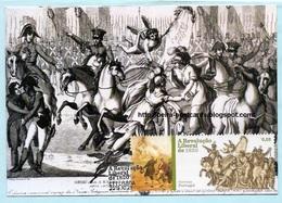 PORTUGAL - REVOLUTION LIBERAL DE 1820 CARTE MAXIMUM - PORTUGUESE LIBERAL REVOLUTION OF 1820 MAXIMUM CARD - Maximumkaarten