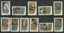 2012 Yt Adh 699 à 710 (o) Peintures Du XXème Siècle - Du Cubisme - Oblitérés