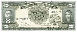 Philippines P.137d 20 Piso 1949 Unc - Filippine