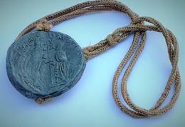 Bolla In Piombo Marcantonio Giustinian Venezia Venice Venedig Stupenda Rara Doge Dal 1684 - Regional Coins