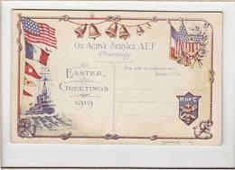 Marine De Guerre Américaine Guerre 14/18 / Carte De Voeux Pour Paques 1919 / K.O.F.C. - Guerre