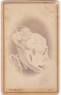 Photographie : Carte De Visite : Bébé Dans Une Poussette En Osier : Photo. ROZIER & Fils - Crest - Creste - Drome - - Alte (vor 1900)