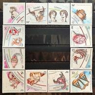 Brazil Stamp 12 Selos Signos Do Zodíaco 2019 E 2020 - Brasilien
