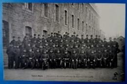 CPA-SAINT MALO-ILLE ET VILAINE-35-LE PELOTON DES ELEVES OFFICIERS DE RESERVE-1907 1908-LE MAILLOT EDIT - Saint Malo