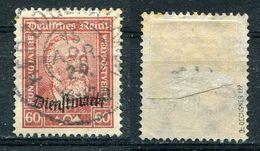 D. Reich Dienst Michel-Nr. 112 Gestempelt - Geprüft - Dienstzegels