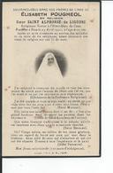 CAEN  Hotel Dieu  Image Pieuse De SOEUR SAINT ALPHONSE DE LIGUORI Novice  Decede Le 24 Avril 1931 - Caen