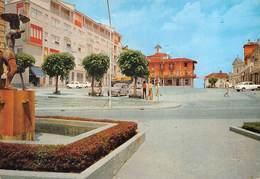 """010604 """"POIRINO - (TO) -  PIAZZA ITALIA""""  ANIMATA, AUTO FIAT. CART NON SPED - Italia"""