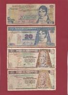 Guatemala 4 Billets Dans L 'état - Guatemala
