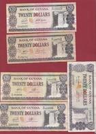 Guyana 5 Billets Dans L 'état - Guyana