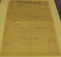 L'information De L'Est Du 19 Novembre 1943. - Revues & Journaux