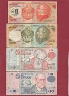 Uruguay 4 Billets Dans L 'état - Uruguay