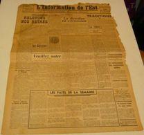 L'information De L'Est Du 26 Novembre 1943.(LVF,avantage En Charbon) - Revues & Journaux