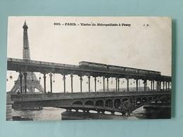 PARIS — Viaduc Du Métropolitain à Passy - Métro Parisien, Gares