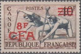 Y&T N° 314 Canoe Réunion Surcharge CFA - France