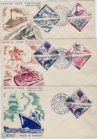 1956 MONACO Soprastampati Serie Cpl. (453/72+PA 61/2) Su Sei FDC - FDC