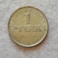 Weimar 1 Mark 1924D - [ 3] 1918-1933 : Weimar Republic