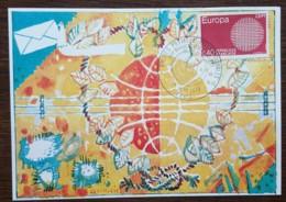 YT N°1637 Sur Carte - AMITIES POSTALES INTERNATIONALES / UTC-PTT - PARIS - 1970 - France