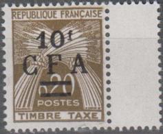 Y&T N° Timbre Taxe Réunion Surcharge CFA - Réunion (1852-1975)