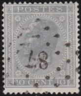 Belgie    .    OBP        .    17A       .         O      .      Gebruikt   .    /    .   Oblitéré - 1865-1866 Profil Gauche