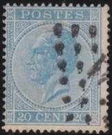 Belgie    .    OBP        .    18A       .         O      .      Gebruikt   .    /    .   Oblitéré - 1865-1866 Profil Gauche