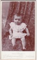 Photographie : Carte De Visite : Bébé - Assis : Photo. G. LANG Et Ses  Fils - Montélimar - Drome - Voir 2 Scans - Alte (vor 1900)